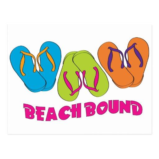 Flip Flops Beach Bound Postcard
