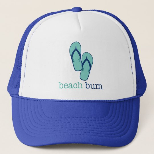 Flip Flops Beach Bum Trucker Hat
