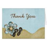 Flip Flops Beach Flower Thank You Note Card