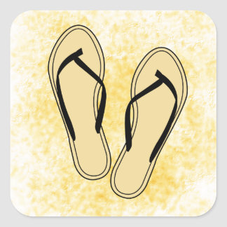Flip Flops Black Sticker