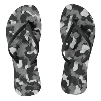 Flip Flops Black White Abstract