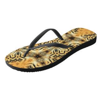 Flip Flops - Bold Black and Tan Design