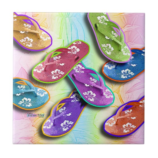 Flip Flops Ceramic Tile