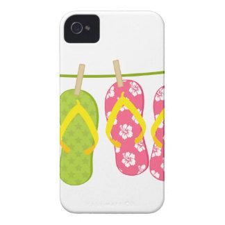 Flip-Flops ClothesLine iPhone 4 Covers