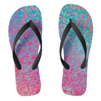 Flip Flops Colorful Corroded Background