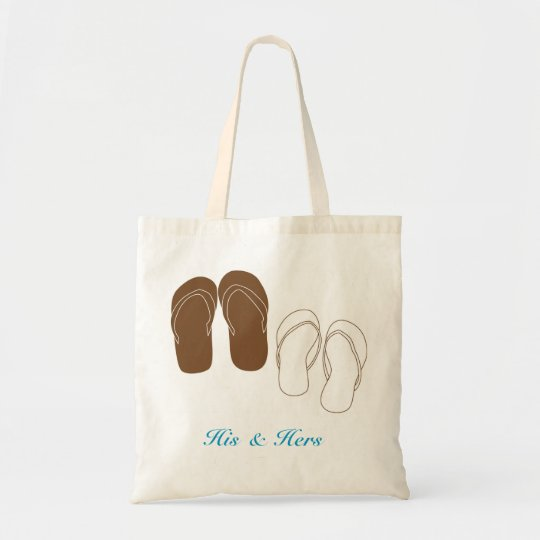 Flip Flops Couple's Bridal Bag