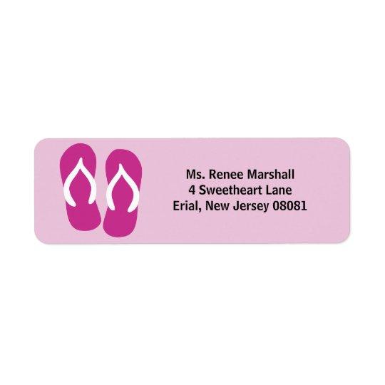 Flip Flops & Customise Your Text Return Address Label