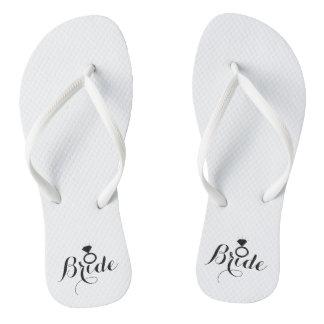 Flip-Flops - Diamond Fab Bride Flip Flops