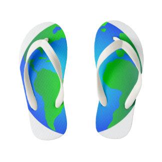Flip Flops, Earth Revolves Around Me Kids Kid's Flip Flops