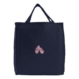 Flip Flops Embroidered Bag