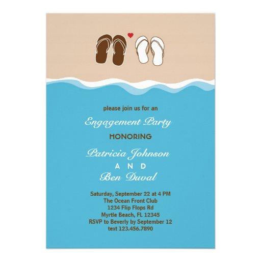 Flip Flops Engagement Party Invitation