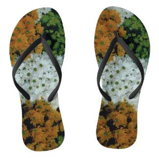 Flip Flops: Floral Slippers Flip Flops
