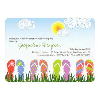 Flip Flops Fun In The Sun Cute Bachelorette Party Card