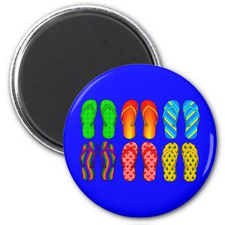 Flip Flops Galore 6 Cm Round Magnet