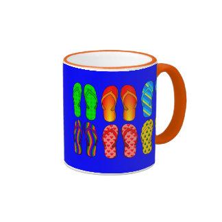 Flip Flops Galore Ringer Mug