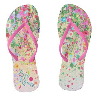 Flip Flops - 'Happy' Detail