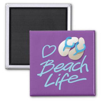 Flip Flops Heart Beach Life Souvenir Magnet