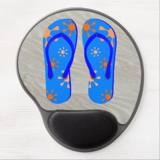 Flip Flops in the Sand Gel Mouse Mat