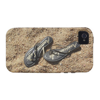 Flip Flops in the Sand iPhone Case iPhone 4/4S Covers