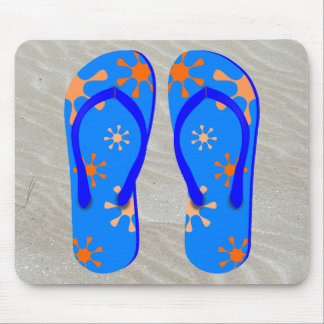 Flip Flops in the Sand Mousepads