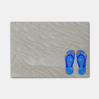 Flip Flops in the Sand Post-it® Notes