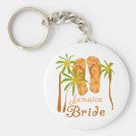 Flip Flops Jamaica Bride Keychains