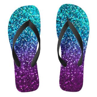 Flip Flops Mosaic Sparkley Texture