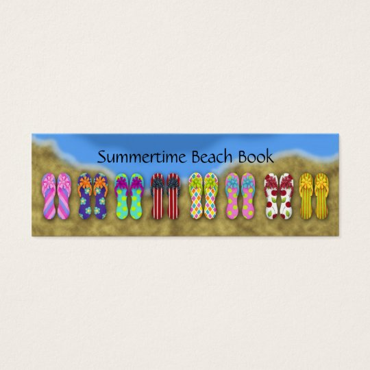 Flip Flops Ocean Bookmark Mini Business Card