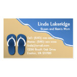 Flip Flops on the Beach Mummy Contact  Info Card Pack Of Standard Business Cards