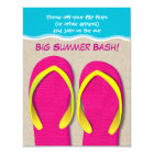Flip Flops On the Beach Summer Party Invitation