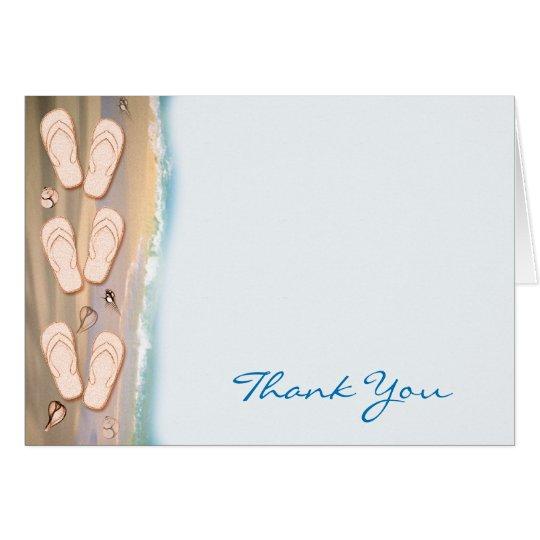 Flip Flops on the Beach Thank You Card