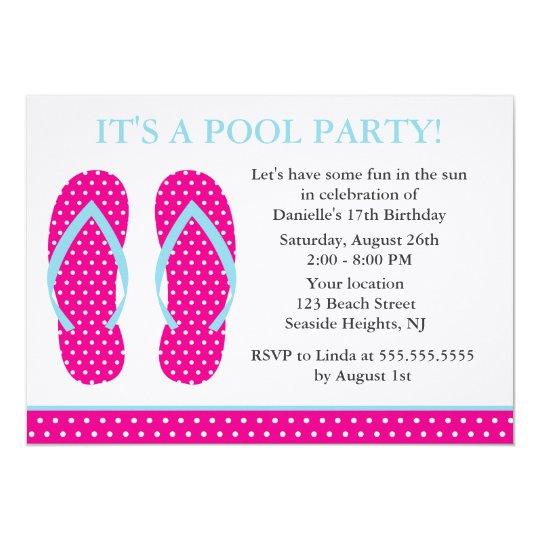 Flip Flops Party Invitations