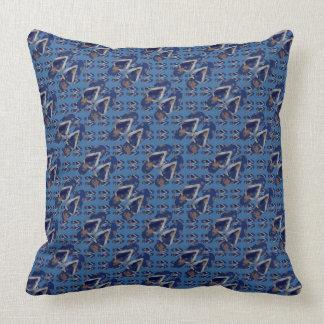 Flip Flops Pattern Blue Navy Cushion