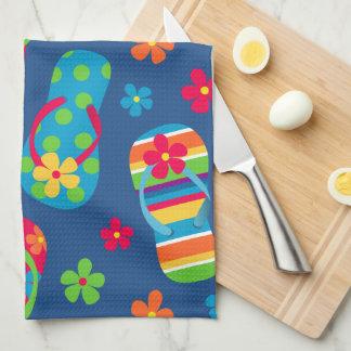 Flip Flops Pattern Tea Towel