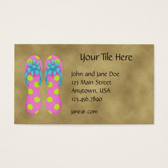 Flip Flops Profile Card