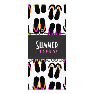 Flip Flops Customized Rack Card