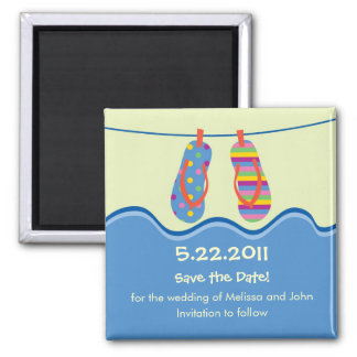 Flip Flops Save The Date Magnet
