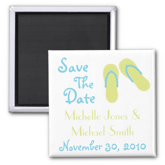 Flip Flops Save The Date Magnets