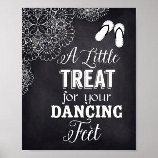 Flip Flops Sign for Wedding Guest,Chalkboard,Lace Poster