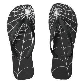 Flip Flops - Spiderweb on Black