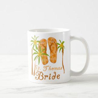 Flip Flops St. Thomas Bride Coffee Mug