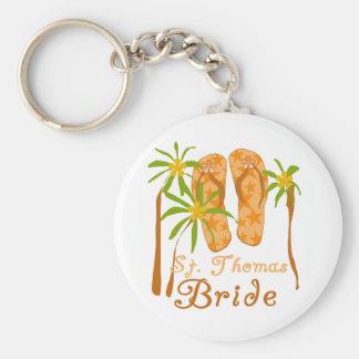 Flip Flops St. Thomas Bride Key Chains