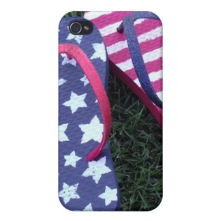 Flip Flops stars and stripes iPhone 4 Cases