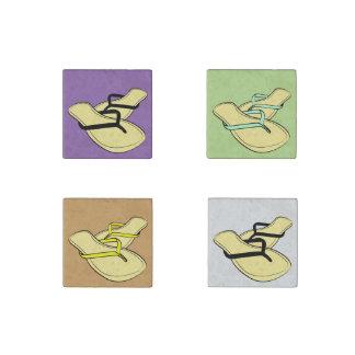 Flip Flops Stone Magnet