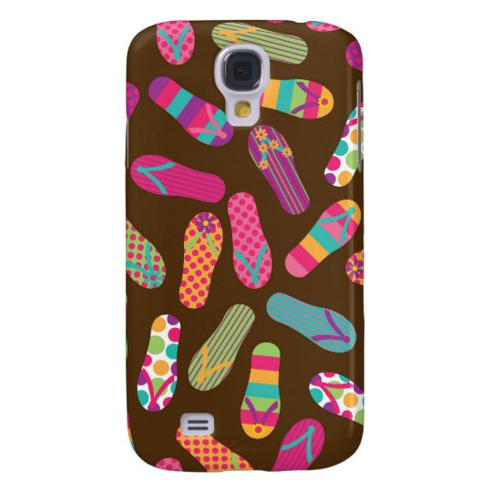 Flip Flops Summer Pern {brown} Galaxy S4 Case