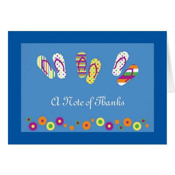 Flip Flops Thank You Card