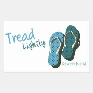 Flip flops tread lightly rectangular sticker
