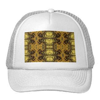 Flip gold mesh hat