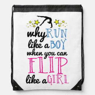Flip Like a Girl Empowerment Gymnastics Backpacks