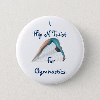 Flip N Twist,  ForGymnastics 6 Cm Round Badge